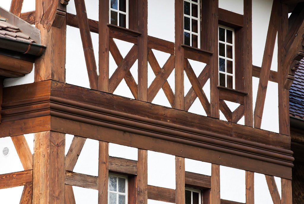 Cham, Alter Raben, Detailansicht der Holzkonstruktion