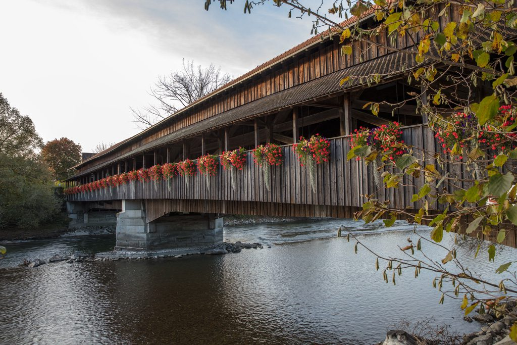 Hünenberg - Sins, Reussbrücke