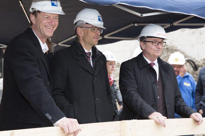 Raiffeisenbank Cham Grundsteinlegung, März 2018