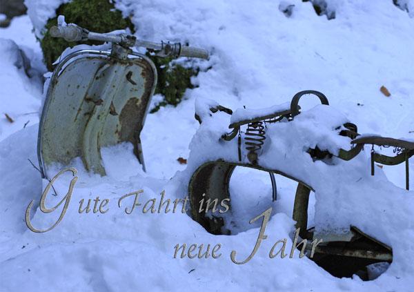 Motorrad im Schnee