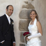 Hochzeit Andrea und Marcel, ein lässiges, glückliches Brautpaar