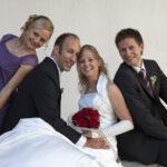 Hochzeit Andrea und Marcel, fröhliches Quartett