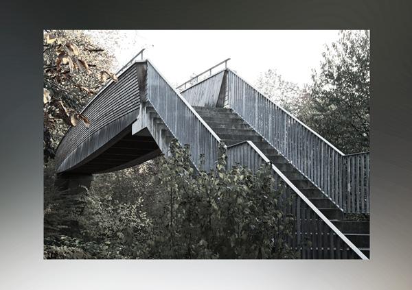 Brücke in Hünenberg schwarzweiss