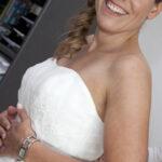 Hochzeit Barbara und Tobias, Detailansicht der Braut während den Vorbereitungen