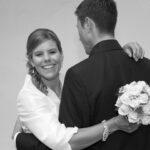 Hochzeit Barbara und Tobias, Paarbild schwarz - weiss