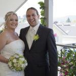 Hochzeit Chantal & Killian, Brautpaar auf dem Balkon