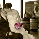 Hochzeit Christina & Marcel, Brautpaar, Bild in Sepia Farben