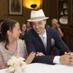Diana & Edi, Brautpaar während der Trauung