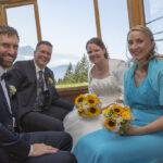 Hochzeit Monika & Roger, zu viert in der Rigibahn
