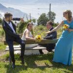 Hochzeit Monika & Roger, Brautpaar und Trauzeugen