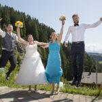 Hochzeit Monika & Roger, Luftsprung