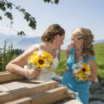 Hochzeit Monika & Roger, Braut und Brautführerin