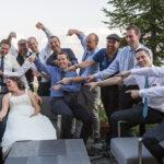 Hochzeit Monika & Roger, alle Männer mit Brautpaar