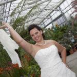 Hochzeit Nicole & Matthias, eine fröhliche Braut