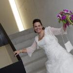 Hochzeit Nicole & Matthias, die Braut freut sich auf den Tag
