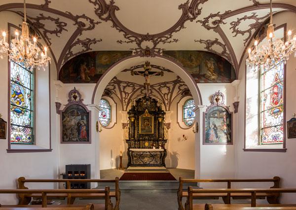Die frisch renovierte Weinrebenkapelle Hünenberg ZG