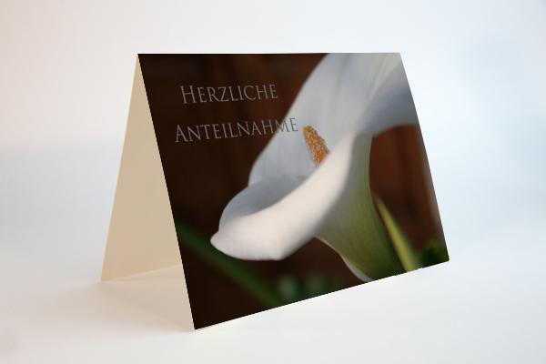 Herzliche Anteilnahme mit einem stillen Blumengruss