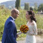 Hochzeit Yvonne und Roman, gemeinsames fröhliches anlachen