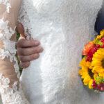 Hochzeit Yvonne und Roman, Brautkleid und Brautbouquet