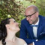 Hochzeit Yvonne und Roman, gegenseitiges anlachen